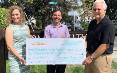 Community Foundation Gives to Mendocino College Food Pantry